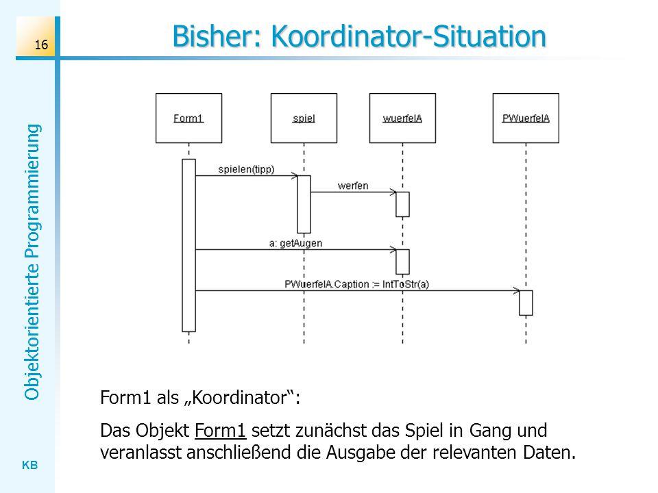 Bisher: Koordinator-Situation