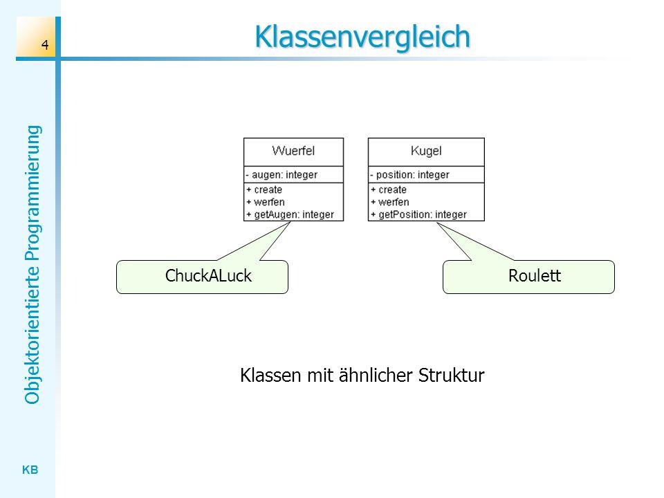 Klassen mit ähnlicher Struktur
