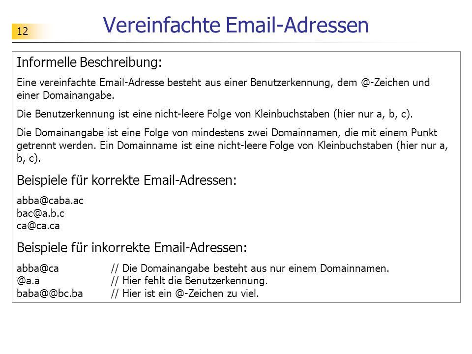 Vereinfachte Email-Adressen