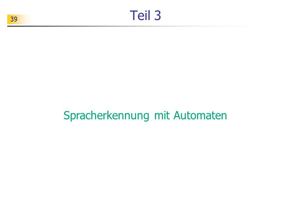 Spracherkennung mit Automaten