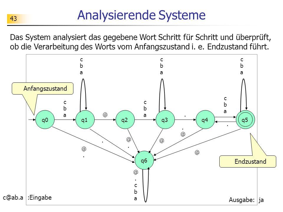 Analysierende Systeme