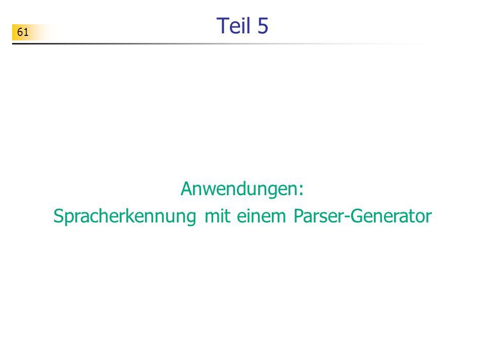 Spracherkennung mit einem Parser-Generator