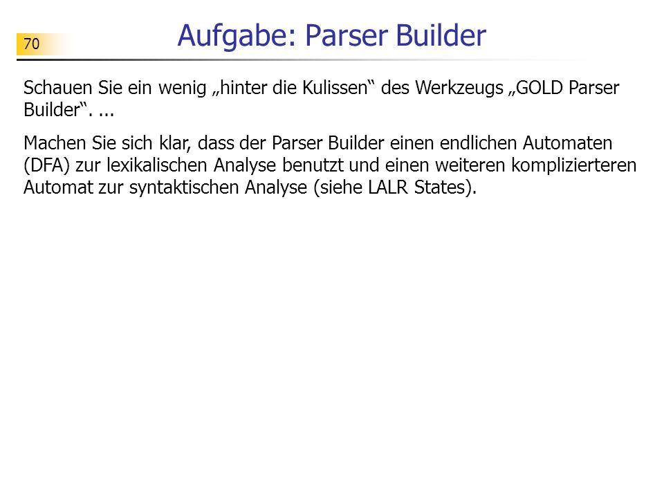 Aufgabe: Parser Builder