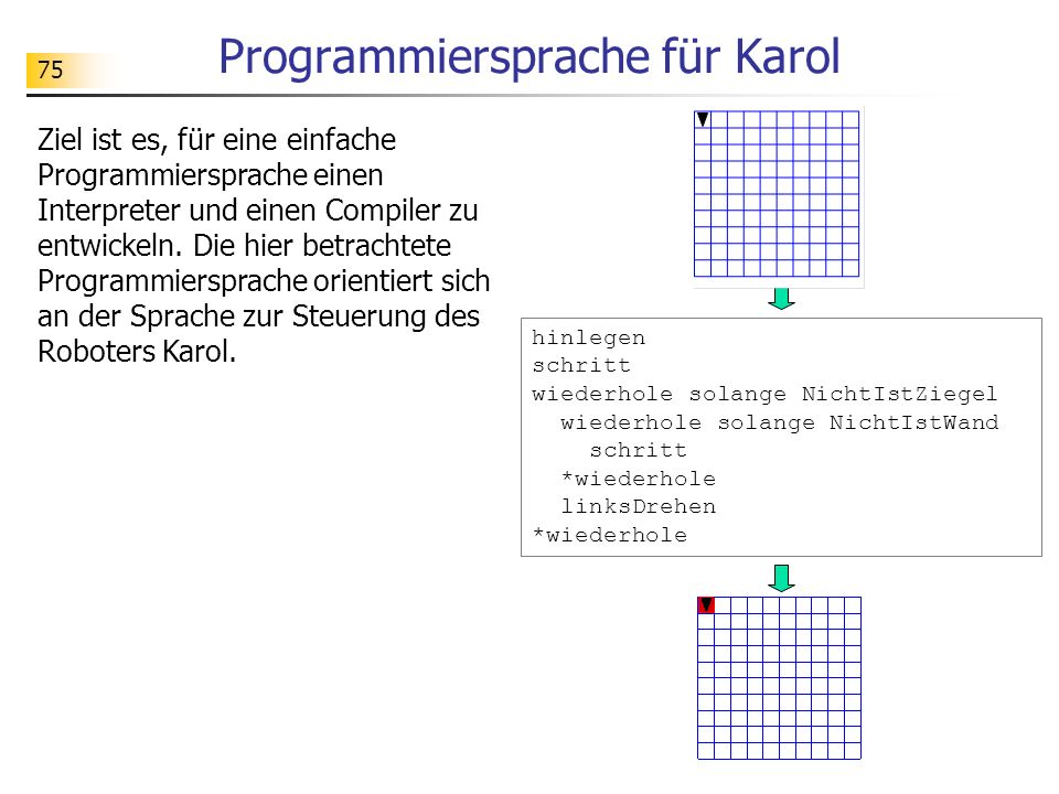 Programmiersprache für Karol