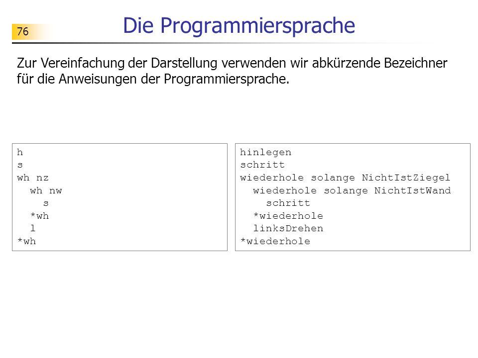 Die Programmiersprache