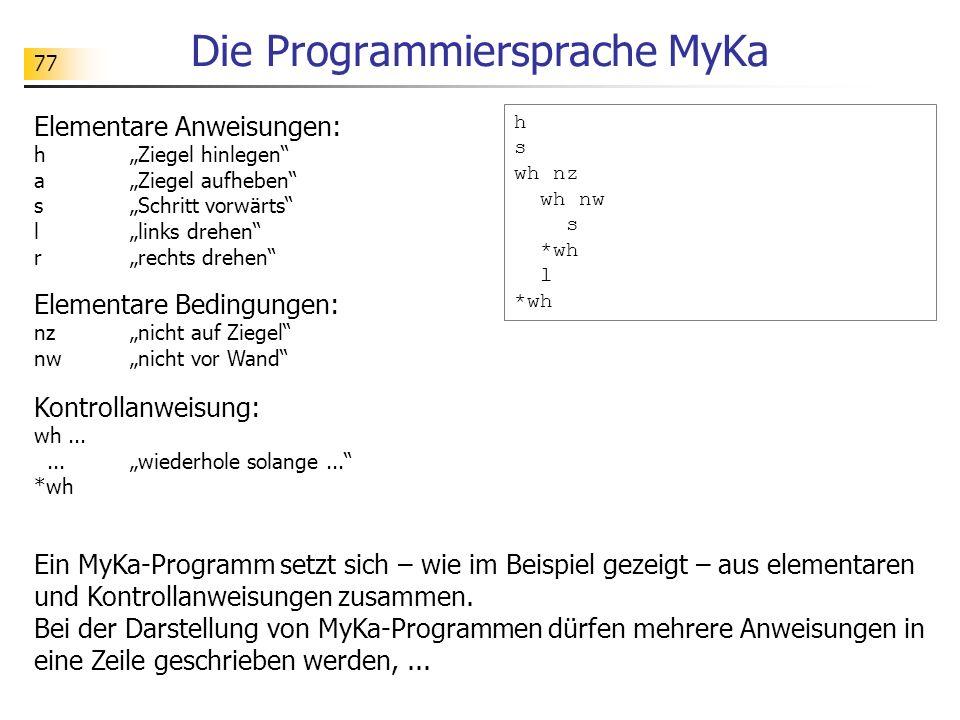Die Programmiersprache MyKa