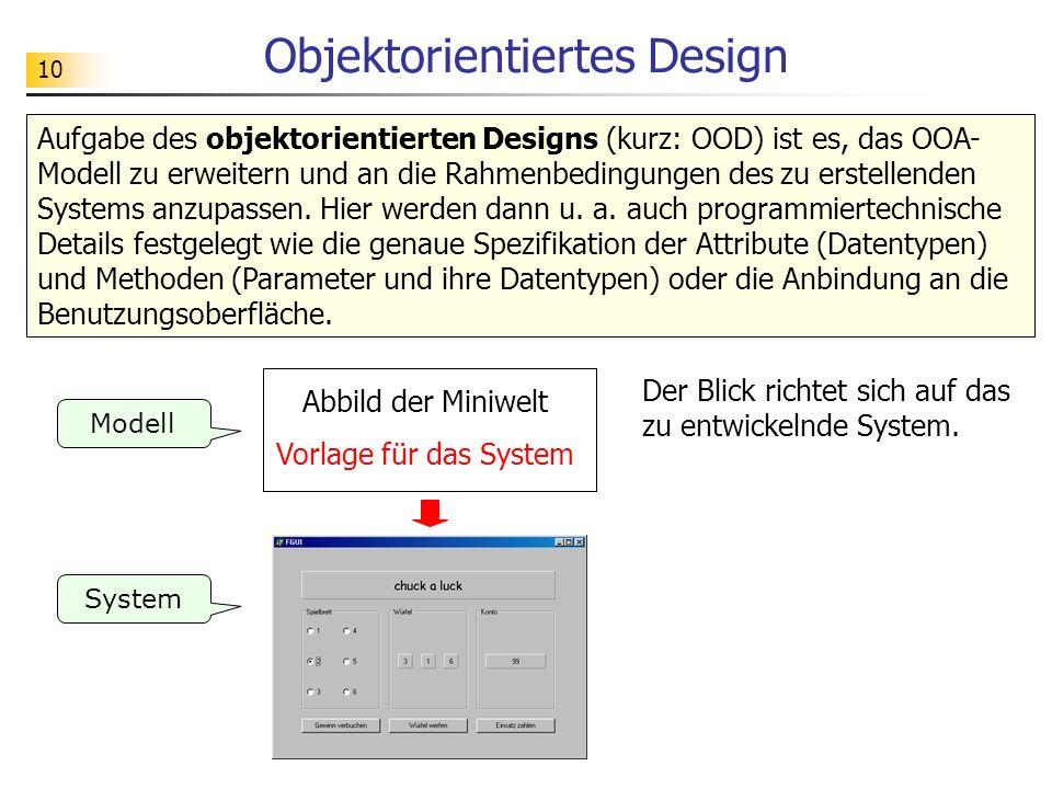 Objektorientiertes Design