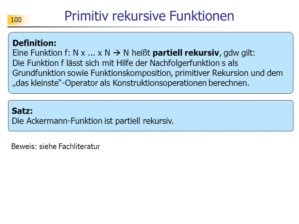 Primitiv rekursive Funktionen