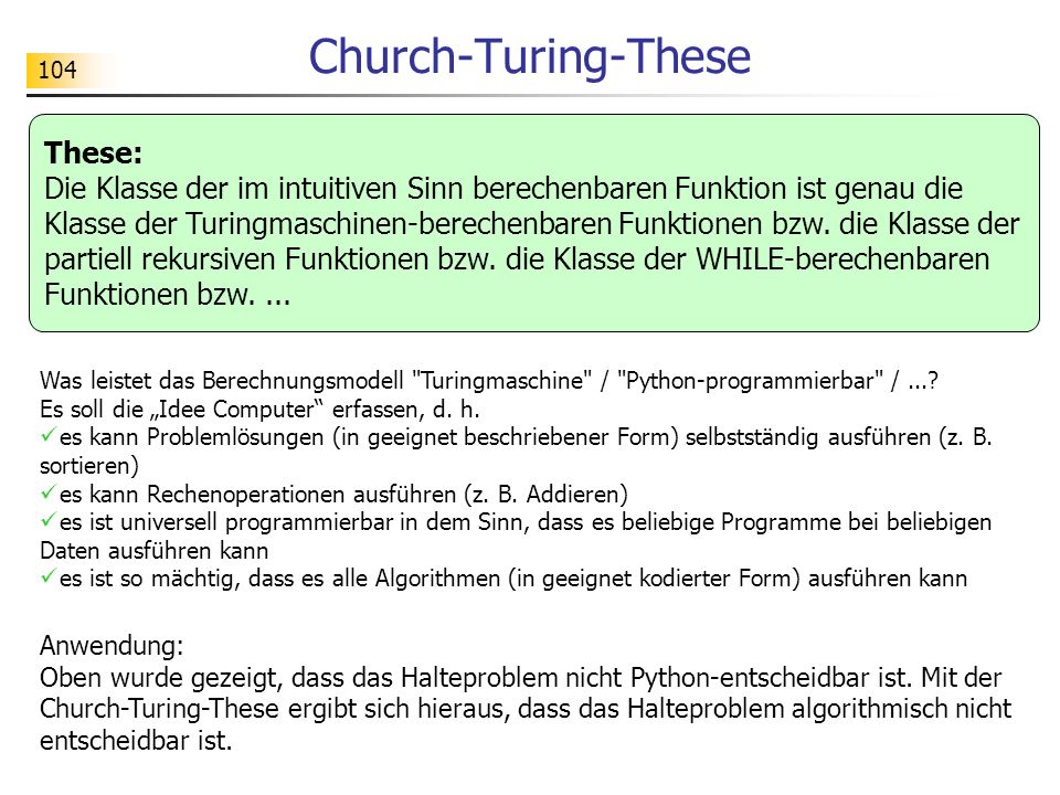 Church-Turing-These