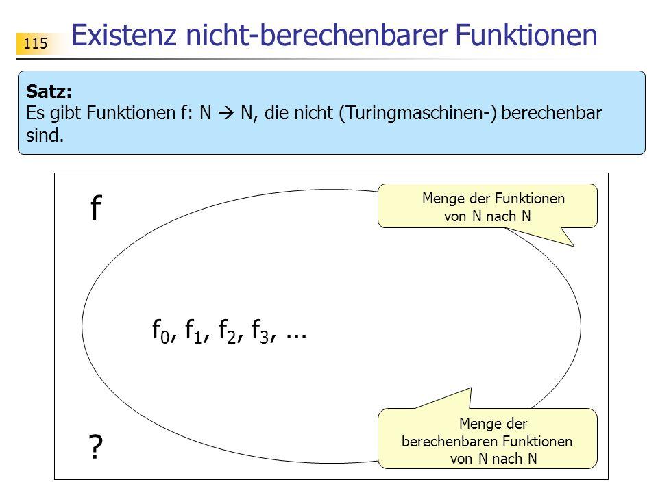 Existenz nicht-berechenbarer Funktionen