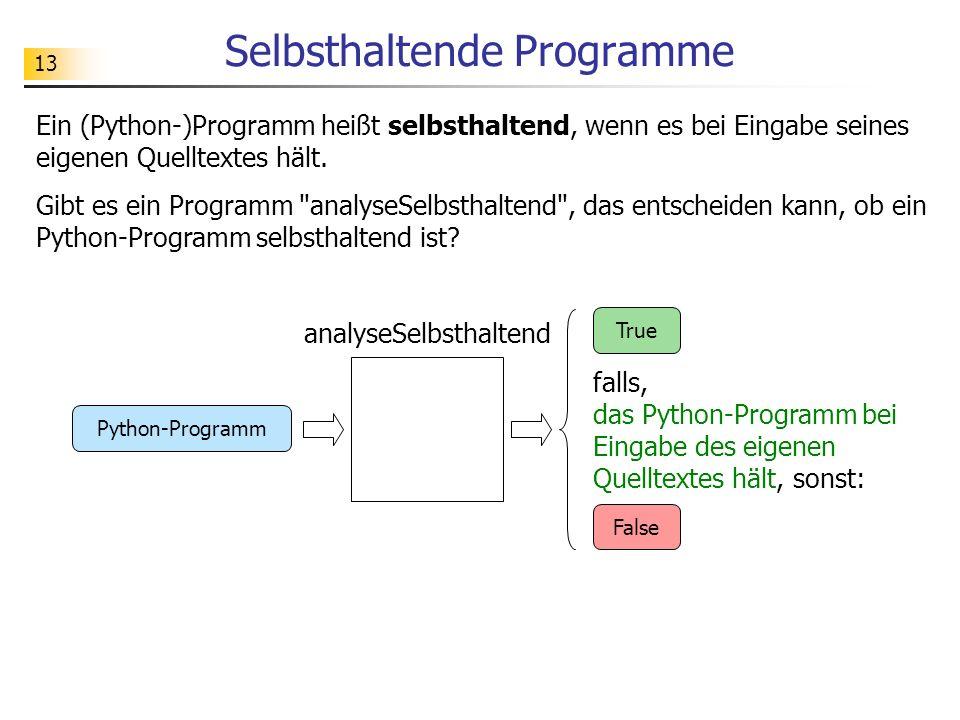 Selbsthaltende Programme