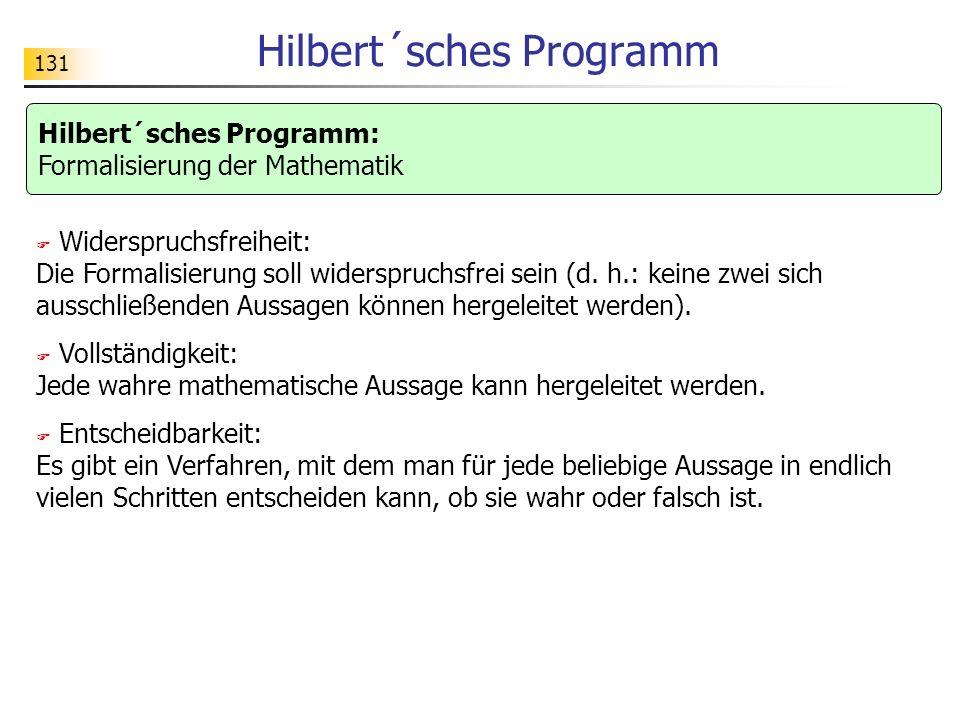 Hilbert´sches Programm