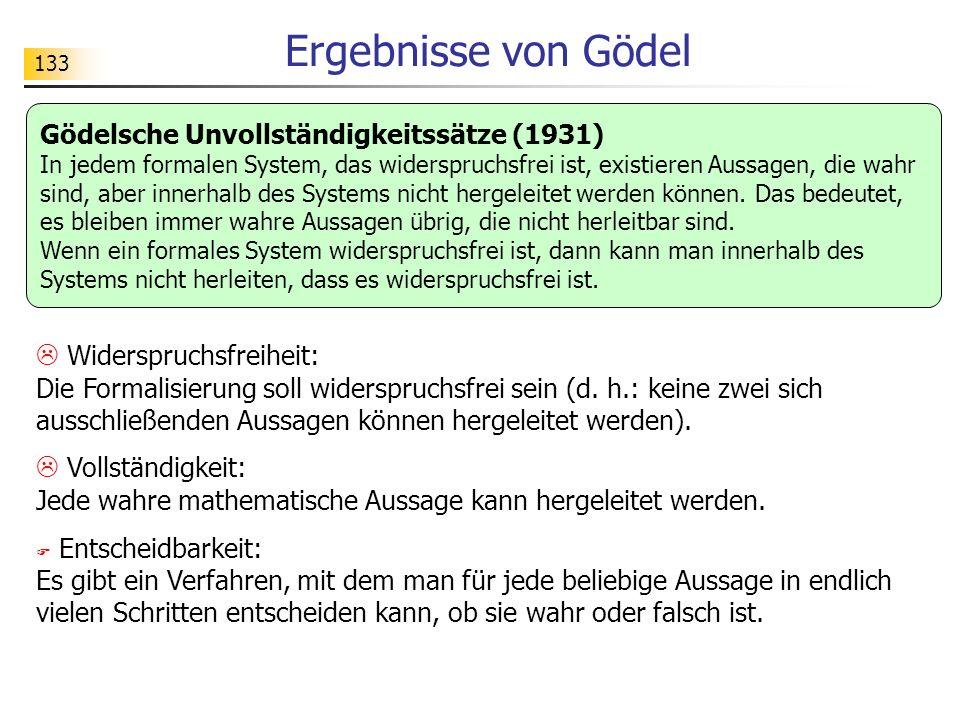 Ergebnisse von Gödel