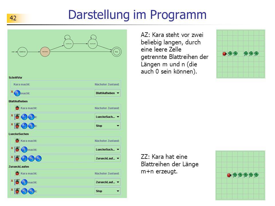 Darstellung im Programm