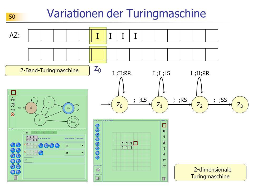 Variationen der Turingmaschine