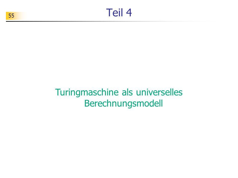 Turingmaschine als universelles Berechnungsmodell