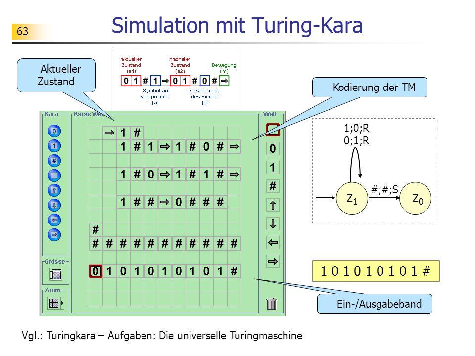 Simulation mit Turing-Kara