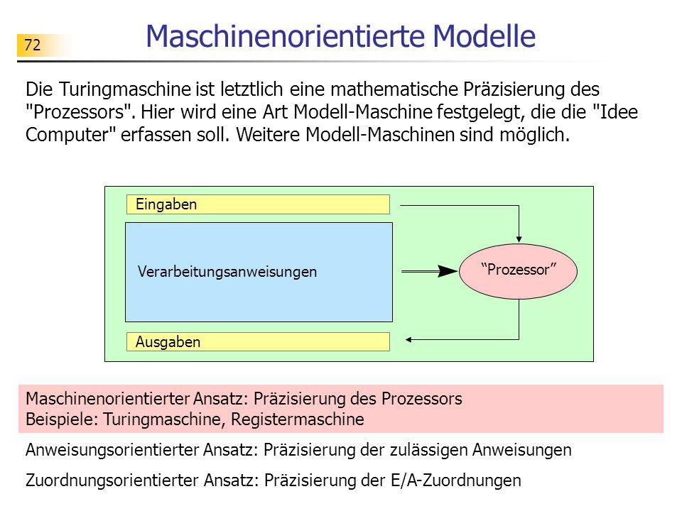 Maschinenorientierte Modelle