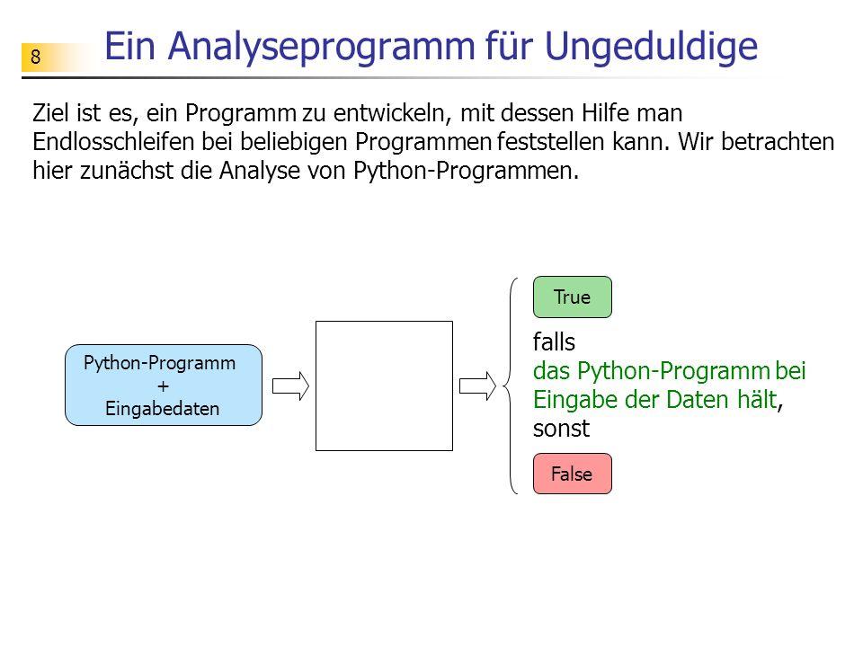 Ein Analyseprogramm für Ungeduldige