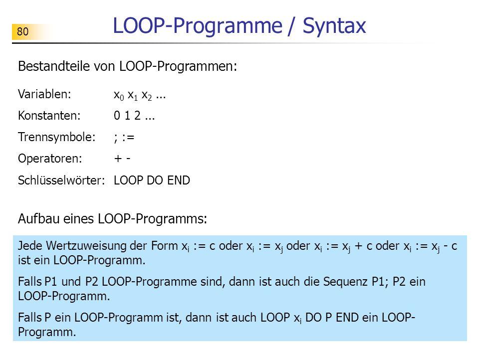 LOOP-Programme / Syntax