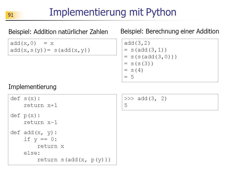 Implementierung mit Python