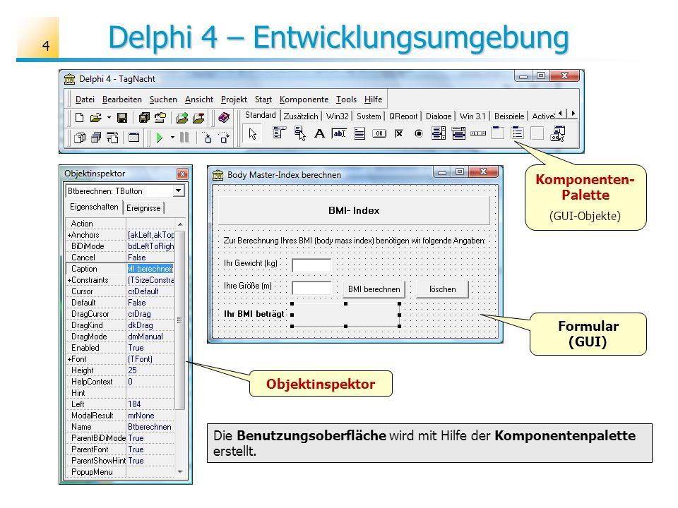 Delphi 4 – Entwicklungsumgebung