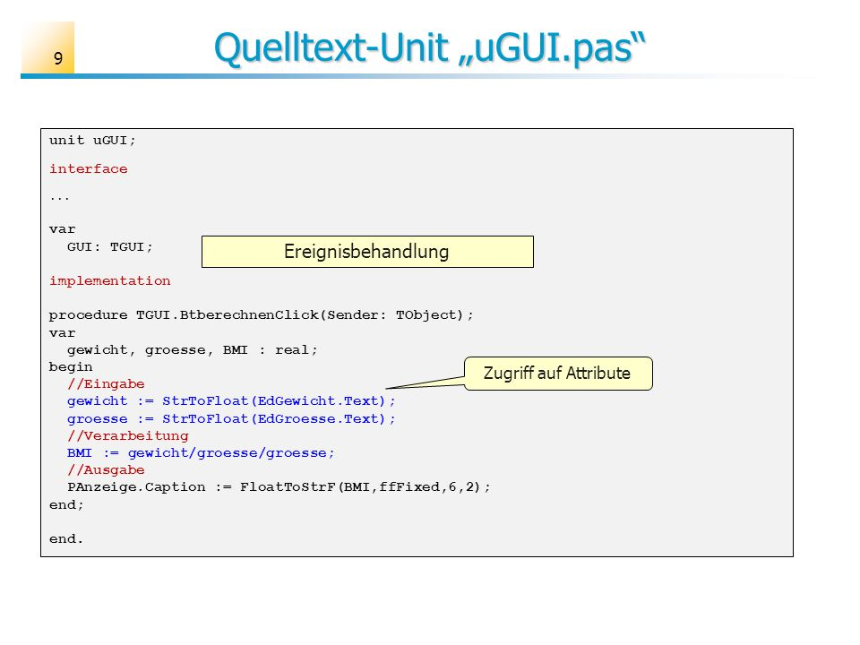 "Quelltext-Unit ""uGUI.pas"