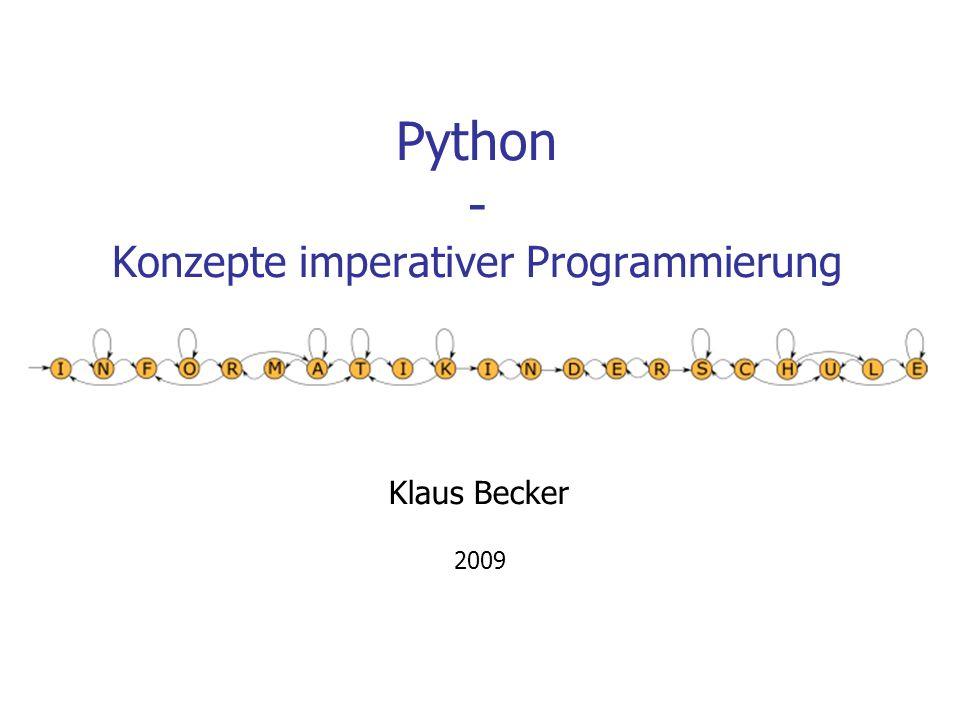 Python - Konzepte imperativer Programmierung