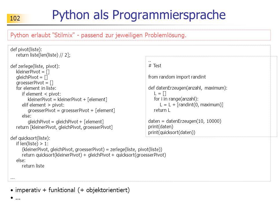 Python als Programmiersprache