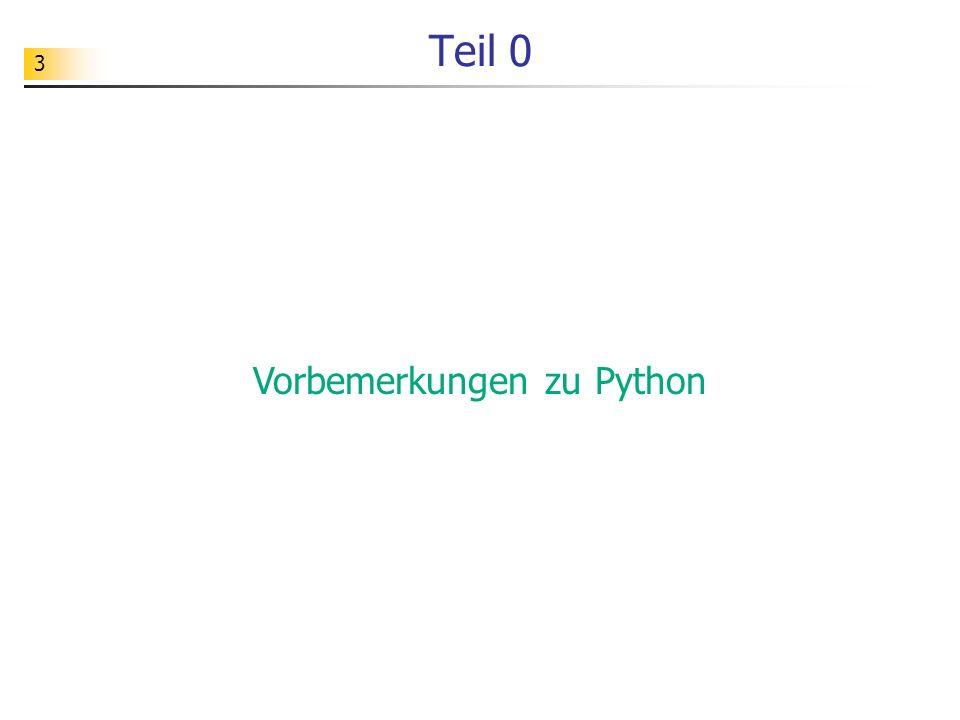 Vorbemerkungen zu Python