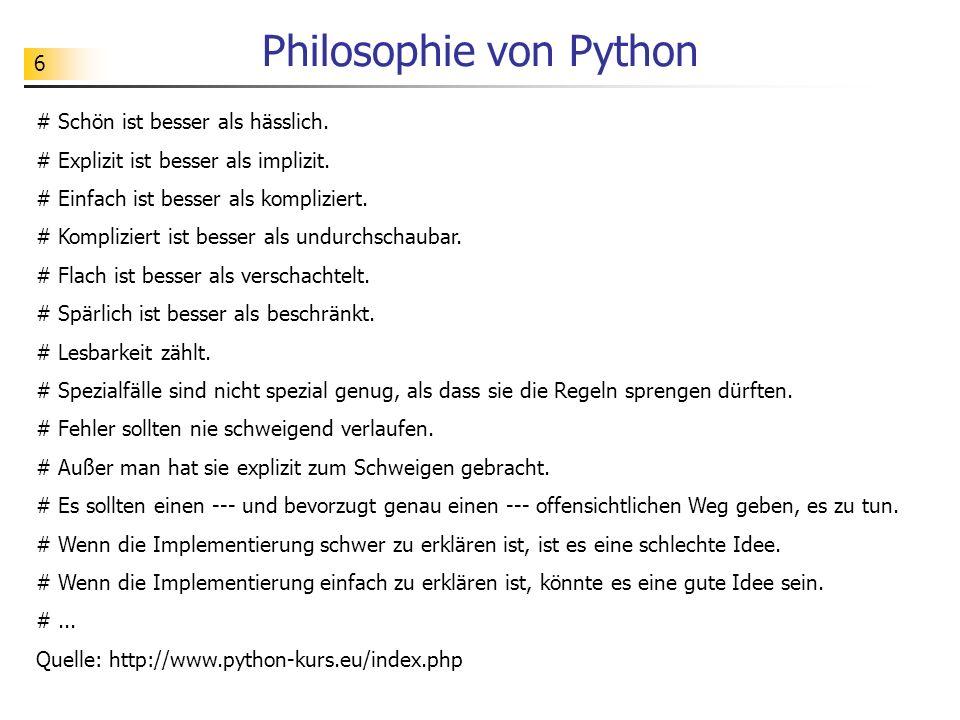 Philosophie von Python