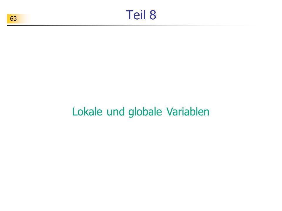 Lokale und globale Variablen