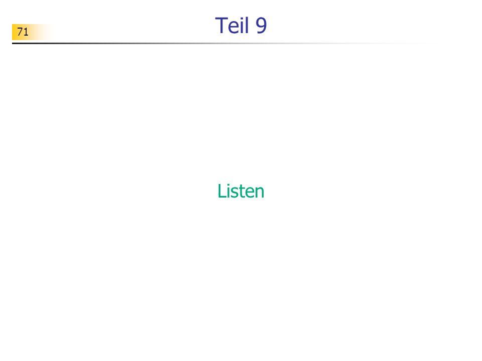 Teil 9 Listen
