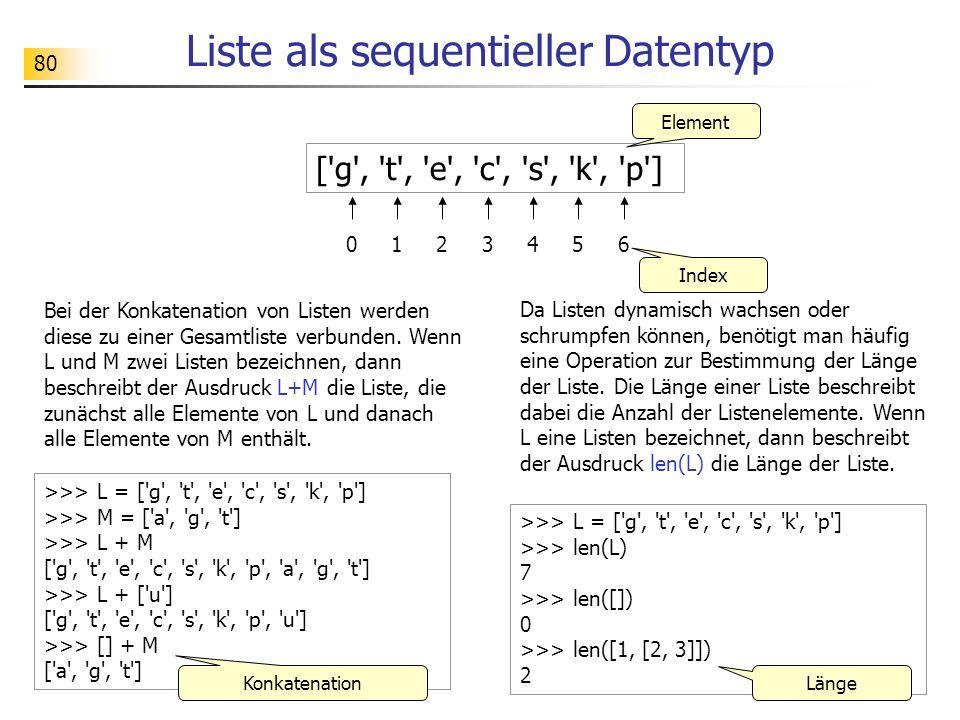 Liste als sequentieller Datentyp
