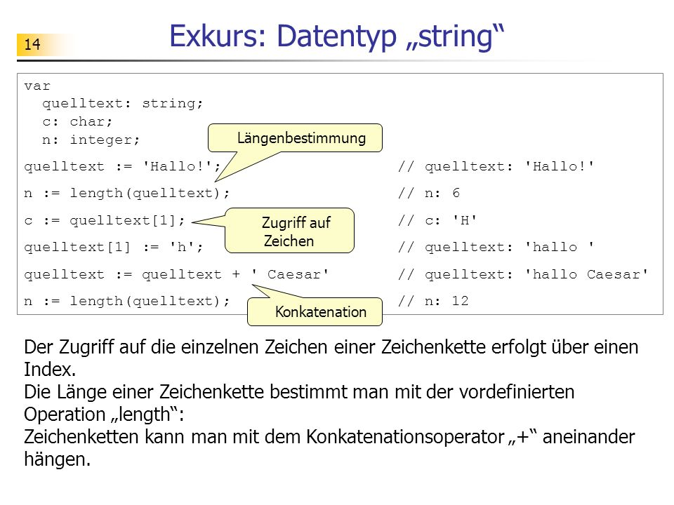 "Exkurs: Datentyp ""string"