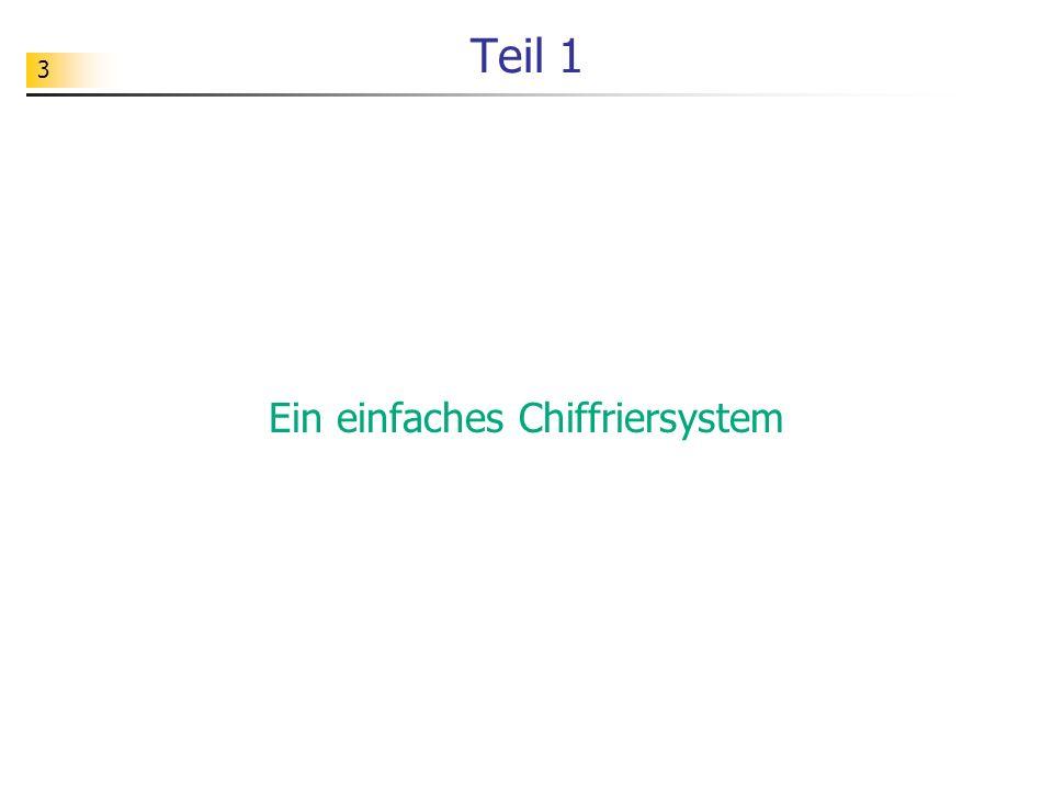 Ein einfaches Chiffriersystem