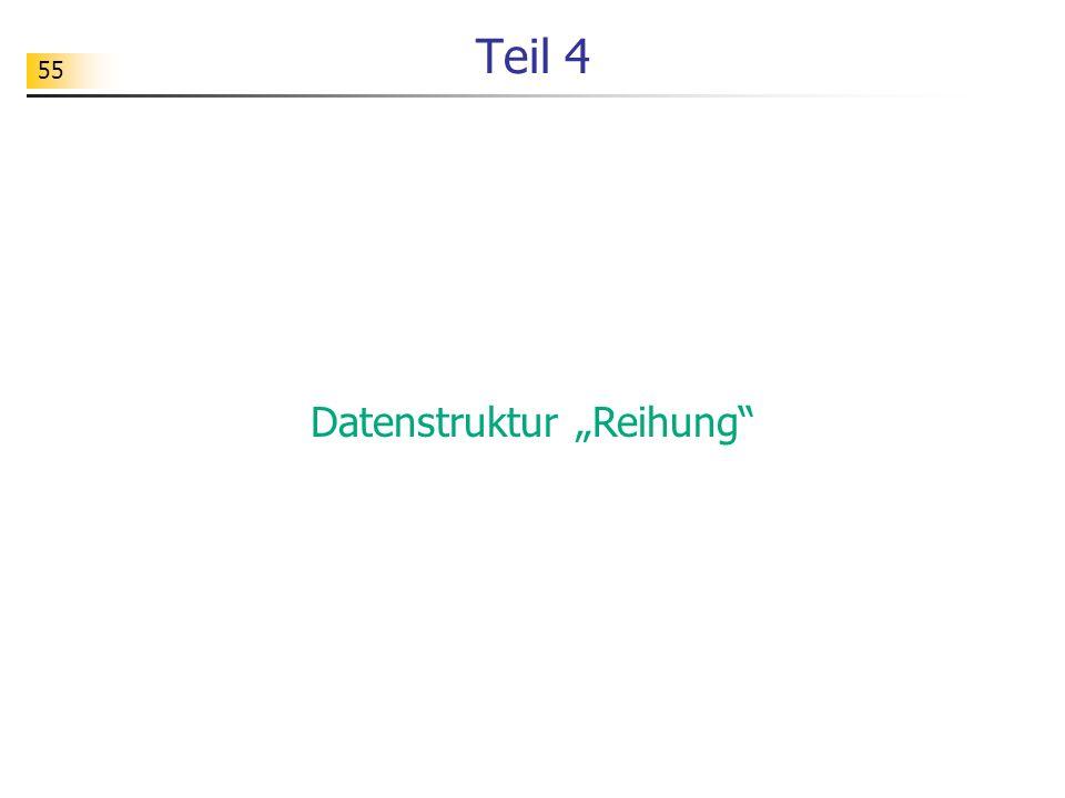"""Datenstruktur """"Reihung"""
