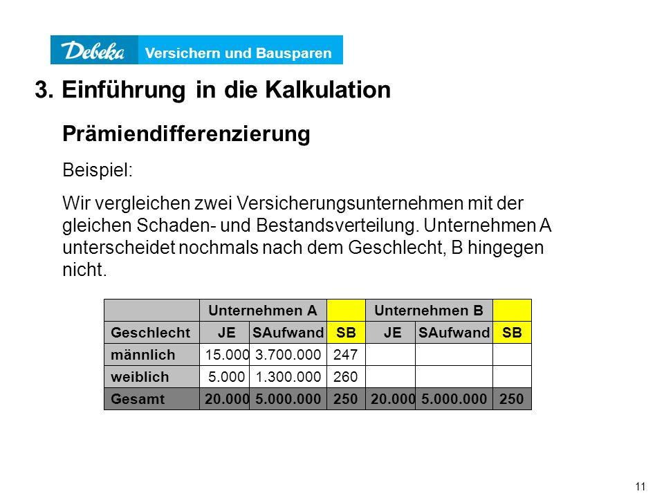 3. Einführung in die Kalkulation