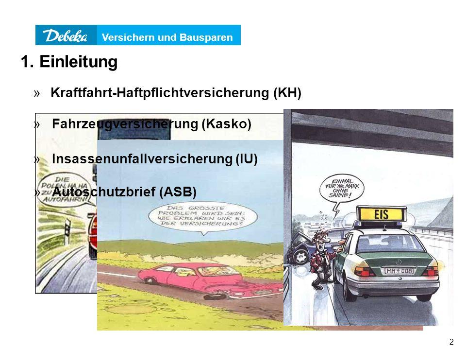 1. Einleitung Kraftfahrt-Haftpflichtversicherung (KH)
