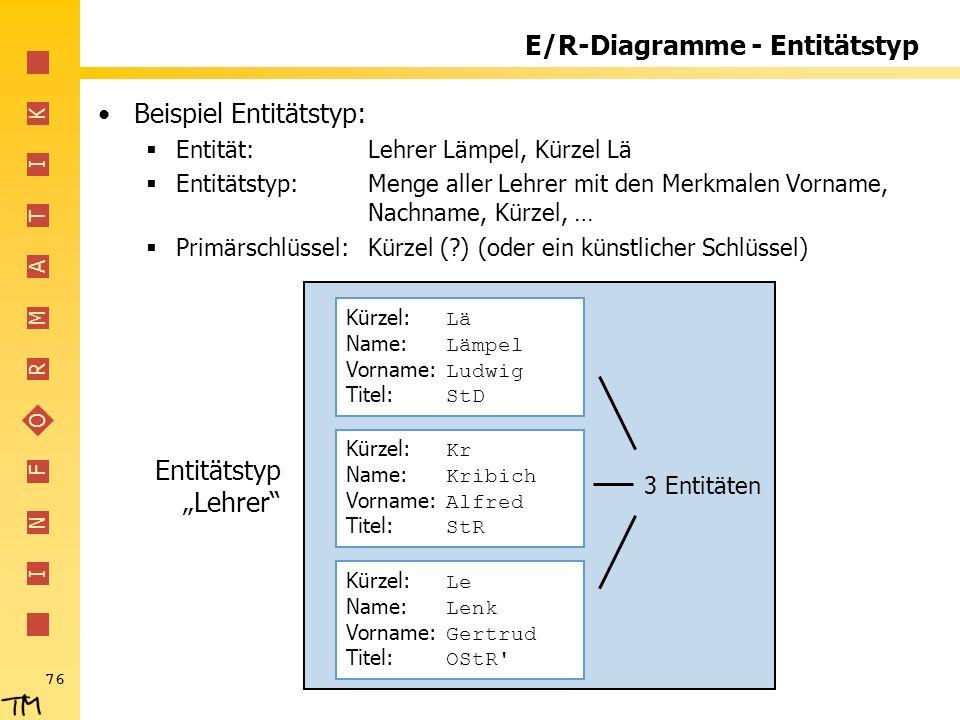 E/R-Diagramme - Entitätstyp