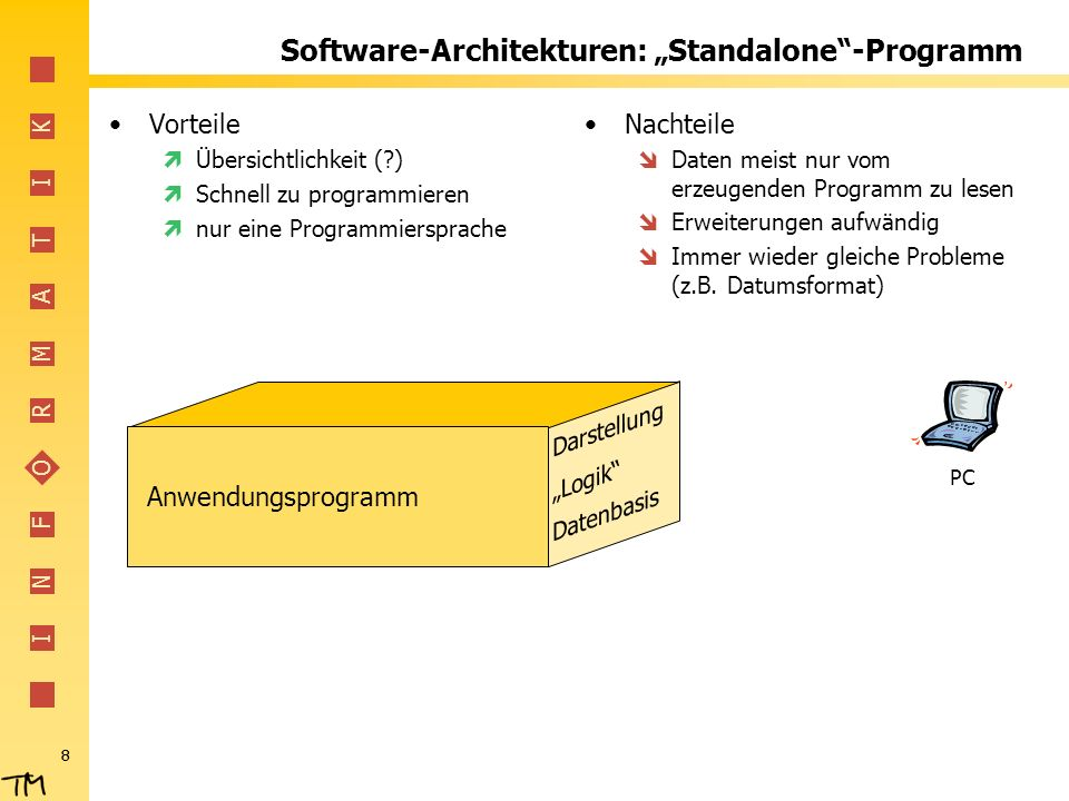 "Software-Architekturen: ""Standalone -Programm"