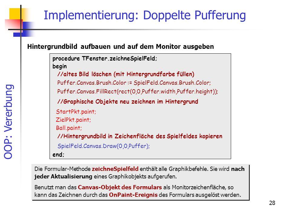 Implementierung: Doppelte Pufferung