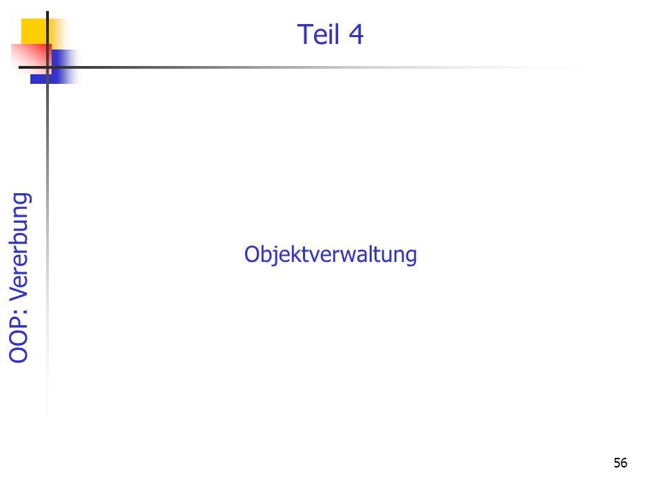 Teil 4 Objektverwaltung