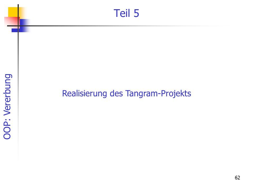 Realisierung des Tangram-Projekts
