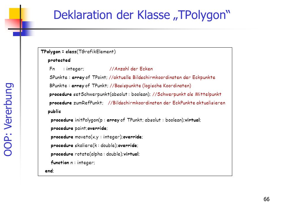 "Deklaration der Klasse ""TPolygon"
