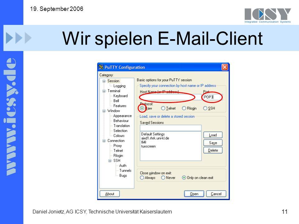 Wir spielen E-Mail-Client