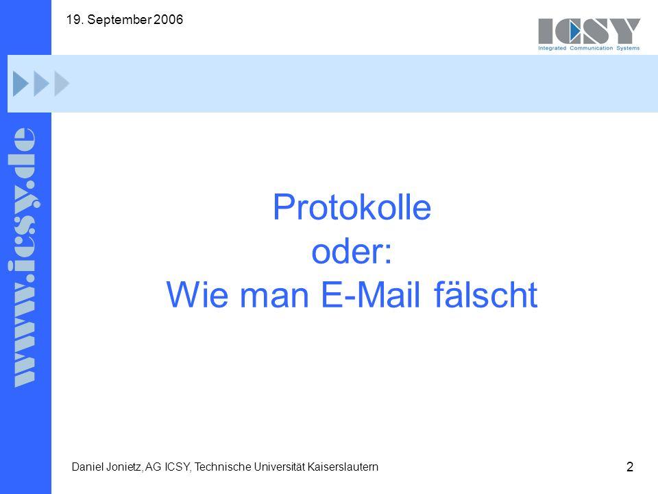 Protokolle oder: Wie man E-Mail fälscht