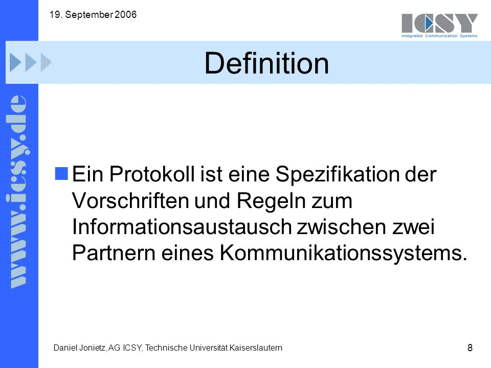 19. September 2006 Definition.