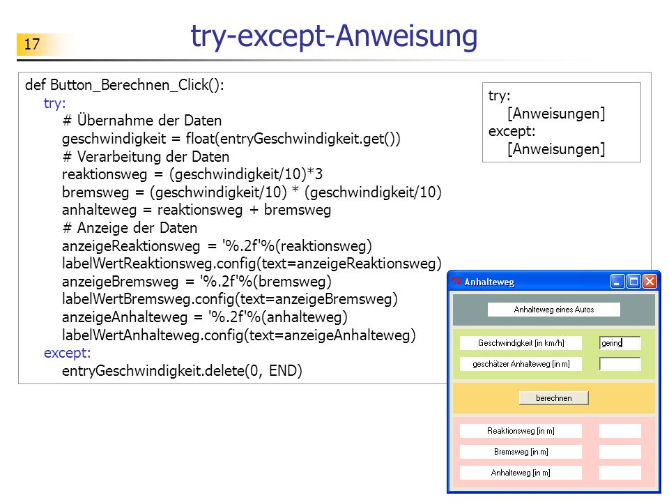 try-except-Anweisung