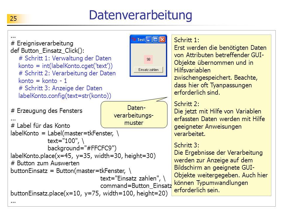 Daten-verarbeitungs-muster